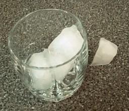 Cutting Ice Cubes in Half at Preschool