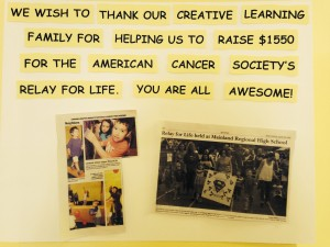 Creative Learning Relay for Life Fundraising